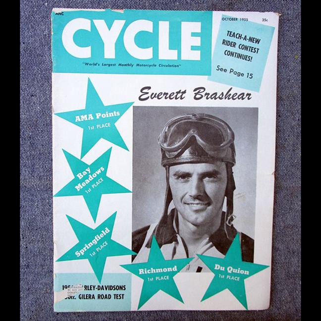 1955 CYCLE MOTORCYCLE MAGAZINE/BOOK 1956 HARLEY LINE GILERA BSA TOURING RACING - LITERATURE