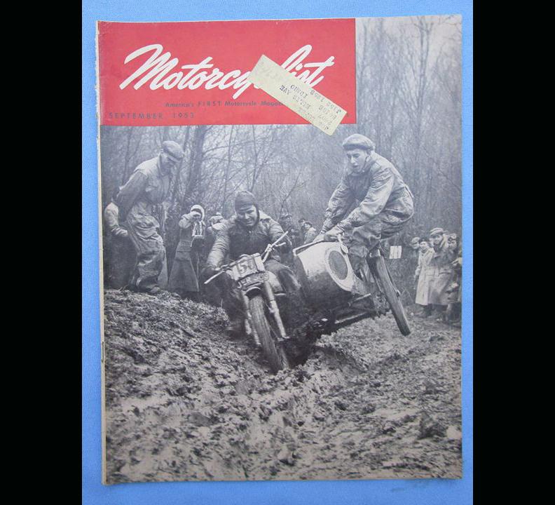 1953 MOTORCYCLIST MOTORCYCLE MAGAZINE/BOOK HOFFMAN 175 GERMAN SINGLE ROAD RACING - LITERATURE