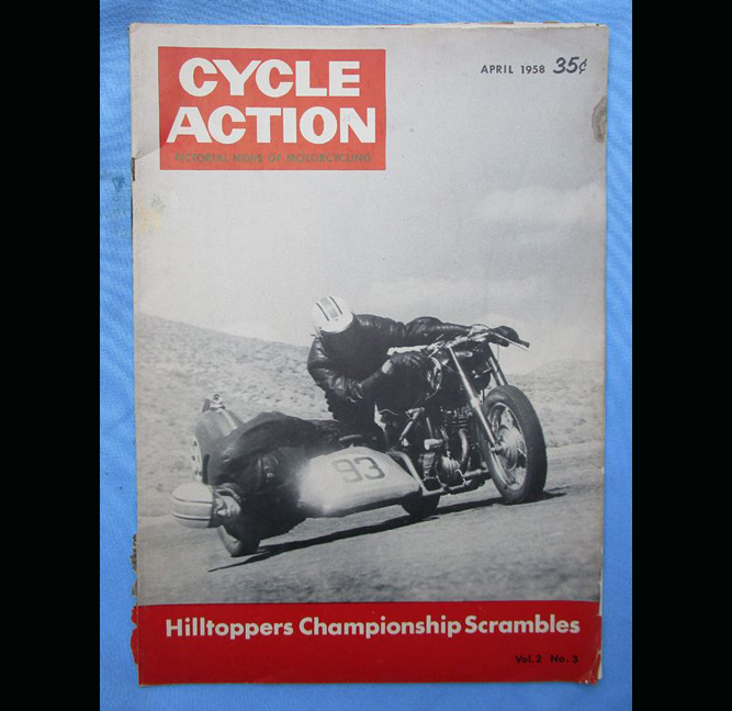 1958 CYCLE ACTION MOTORCYCLE MAGAZINE BOOK SCRAMBLES DESERT DIRT TRACK RACING - LITERATURE