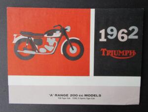 VINTAGE 1962 TRIUMPH TIGER CUB SPORTS CUB MOTORCYCLE BROCHURE CATALOG T20 T20S  - MEMORABILIA