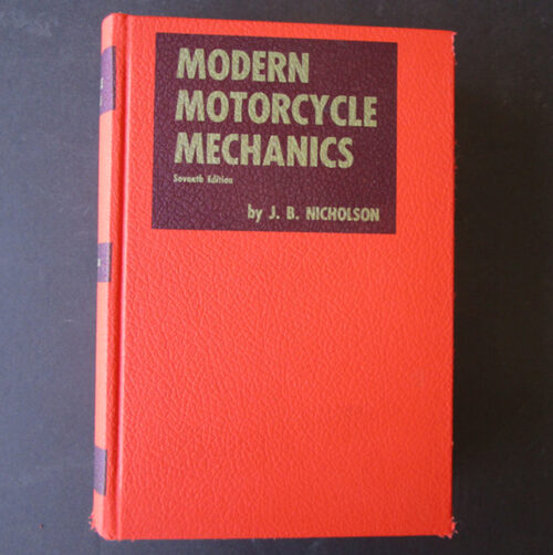 modern motorcycle mechanics manual vintage book