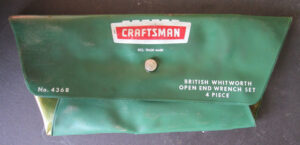 VINTAGE CRAFTSMAN BRITISH WHITWORTH OPEN END WRENCH SET CLASSIC MOTORCYCLE MOTOR CAR - PARTS