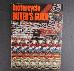 1970 MOTORCYCLE MINIBIKE BUYERS GUIDE BOOK KAWASAKI HONDA YAMAHA TRIUMPH BSA BMW - LITERATURE