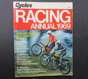 1969 MOTORCYCLE RACING MAGAZINE BOOK SCRAMBLES ISDT DIRT BIKE MOTOCROSS - LITERATURE