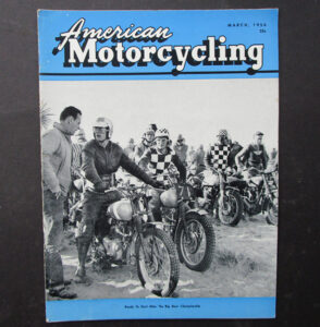 1956 AMERICAN MOTORCYCLING MAGAZINE BOOK BIG BEAR DESERT SLED TRIUMPH BUD EKINS - LITERATURE