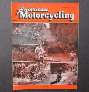 1956 AMERICAN MOTORCYCLING MAGAZINE BOOK JACK PINE ENDURO HARLEY RACING - LITERATURE