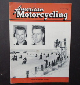 1956 AMERICAN MOTORCYCLING MAGAZINE BOOK DAYTONA BEACH HARLEY DAVIDSON RACING - LITERATURE