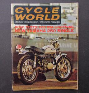 1968 CYCLE WORLD MOTORCYCLE MAGAZINE BOOK 1968 YAMAHA DT1 BSA LIGHTNING TRIUMPH - LITERATURE