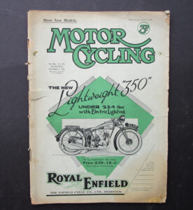 1929 VINTAGE MOTOR CYCLING MAGAZINE ANTIQUE BOOK NEW 1930 MODELS ROYAL ENFIELD - LITERATURE