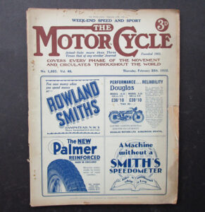 1932 VINTAGE MOTOR CYCLE MAGAZINE ANTIQUE BOOK RACING SPEED AND SPORT ISSUE - LITERATURE