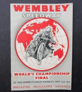 1937 VINTAGE WEMBLEY SPEEDWAY BRITISH MOTORCYCLE MAGAZINE RACING PROGRAM - MEMORABILIA