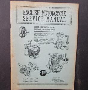 ENGLISH WD 1944 VINTAGE MOTORCYCLE MANUAL/BOOK BURMAN BTH ARIEL TRIUMPH BSA NORTON ENFIELD - LITERATURE