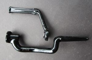 TRIUMPH PRE UNIT MOTORCYCLE FOOTREST FOOT PEG SET 1954-1962 6T T120 TR6 T110 5T - PARTS