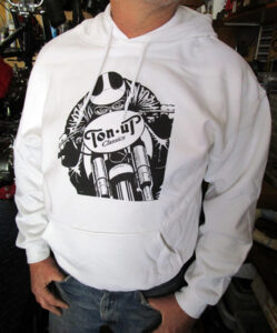 TON UP CLASSICS WHITE CAFE RACER HOODIE