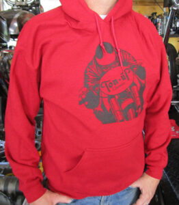 TON UP CLASSICS RED CAFE RACER HOODIE