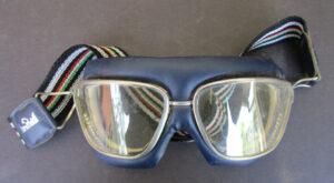 VINTAGE BARUFFALDI ITALIAN MOTORCYCLE GOGGLES BLUE - MEMORABILIA