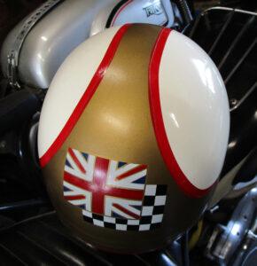 VINTAGE CROMWELL MOTORCYCLE HELMET 1960s MIKE HAILWOOD S.LEWIS PUDDING BOWL - MEMORABILIA