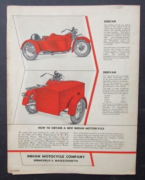 vintage indian brochure