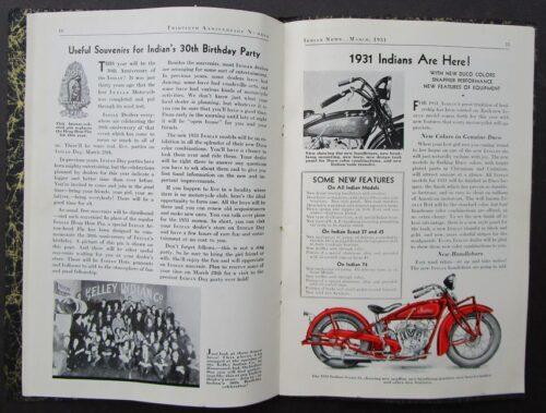 antique motorcycle brochure