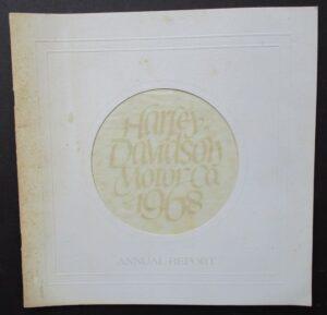 1968 VINTAGE HARLEY DAVIDSON MOTORCYCLE ANNUAL REPORT BROCHURE BOOKLET GLIDE - LITERATURE