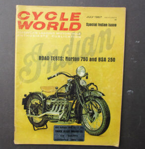 1967 CYCLE WORLD MOTORCYCLE MAGAZINE/BOOK SPECIAL INDIAN ISSUE NORTON P11 BSA - LITERATURE