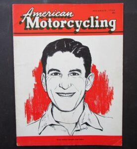1955 AMERICAN MOTORCYCLING MOTORCYCLE MAGAZINE/BOOK HARLEY NORTON AJS TRIUMPH - LITERATURE