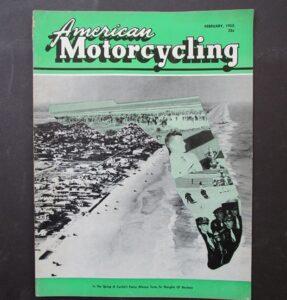 1955 AMERICAN MOTORCYCLING MOTORCYCLE MAGAZINE/BOOK HARLEY BSA VINCENT RACING - LITERATURE