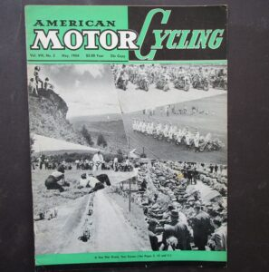 1954 AMERICAN MOTORCYCLING MOTORCYCLE MAGAZINE/BOOK HARLEY GYPSY TOUR BSA C10 - LITERATURE
