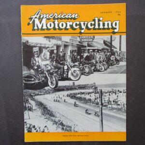 1956 AMERICAN MOTORCYCLING MOTORCYCLE MAGAZINE/BOOK HARLEY BSA ZUNDAPP DAYTONA - LITERATURE