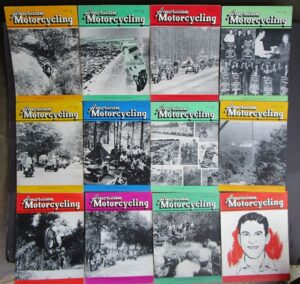 1955 AMERICAN MOTORCYCLING MOTORCYCLE MAGAZINE/BOOK 12 ISSUES COMPLETE YEAR CBS - LITERATURE