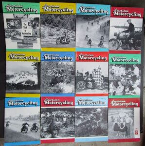 1957 AMERICAN MOTORCYCLING MOTORCYCLE MAGAZINE/BOOK 12 ISSUES COMPLETE YEAR CBS - LITERATURE