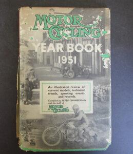 VINTAGE 1951 MOTORCYCLE YEAR BOOK NORTON VINCENT TRIUMPH BSA NORTON AJS RACING - LITERATURE