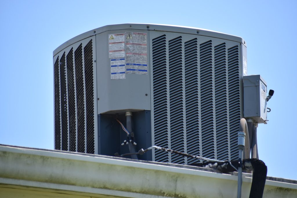 air conditioner on a roof