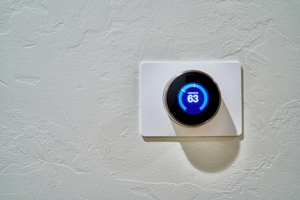 thermostat on a white