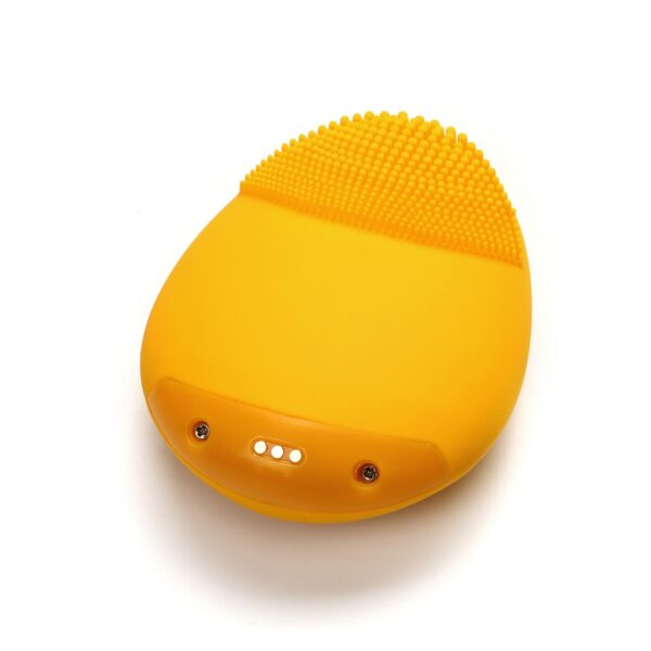 Back side of facial cleansing power brush