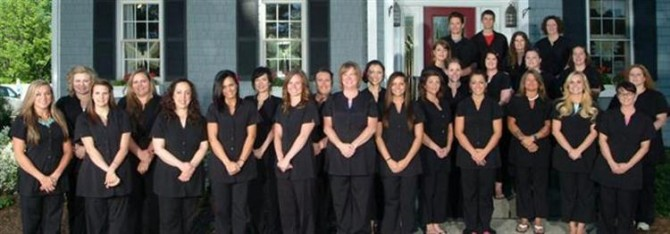 A staff photo of the massage and beauty specialists at Coventina Day Spa in Waterford, PA