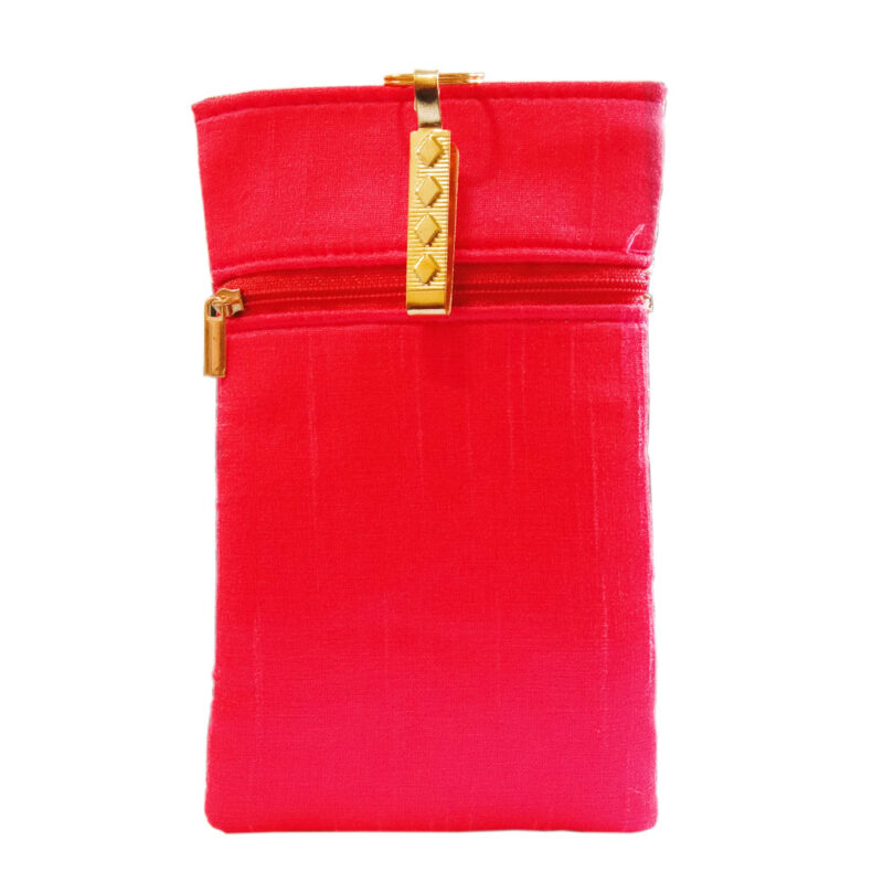 Pink mobile saree pouch image view 6