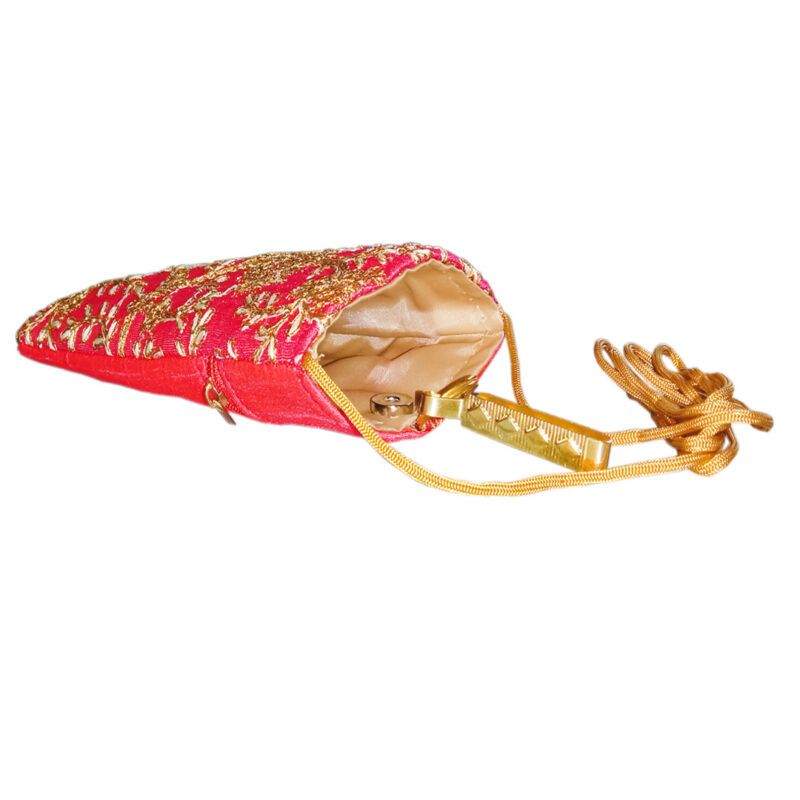 Pink mobile saree pouch image view 4