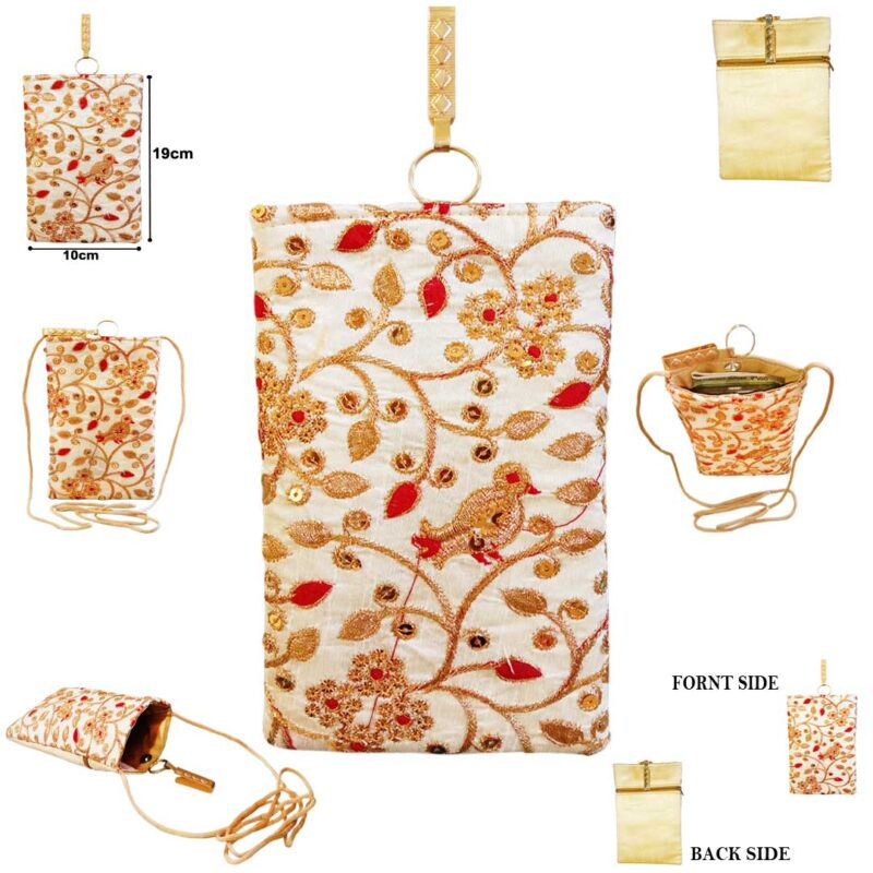 mobile saree pouch