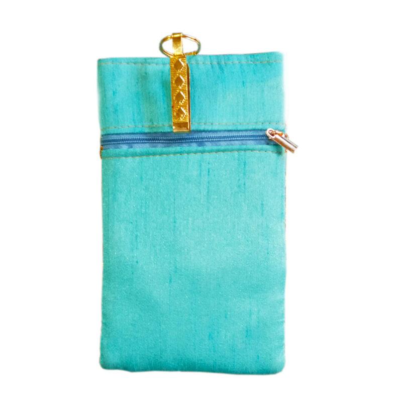 Aqua mobile saree pouch image view 6