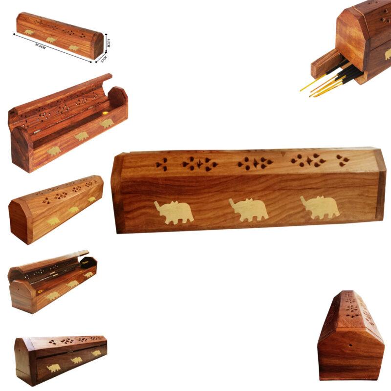 wooden agarbatti stand image view 3