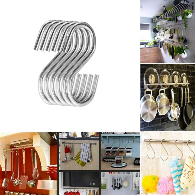 Multipurpose Stainless Steel S Hook 3 Inch - 6PCs-Image View 1