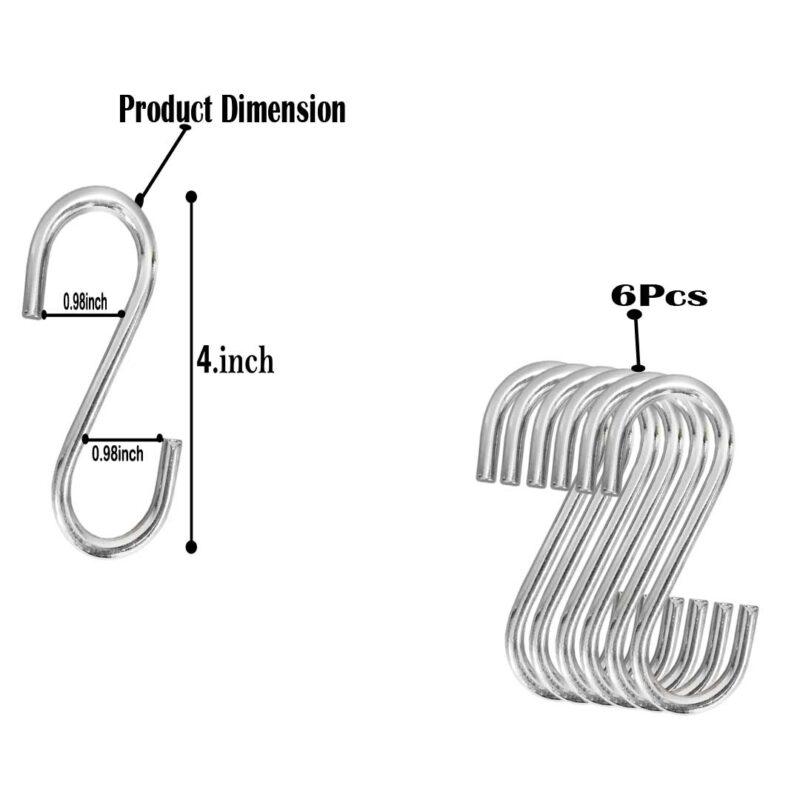 4 inch s hooks - 6pcs