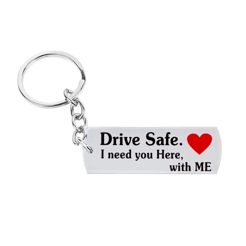 acrylic keychain - drive safe image view 5