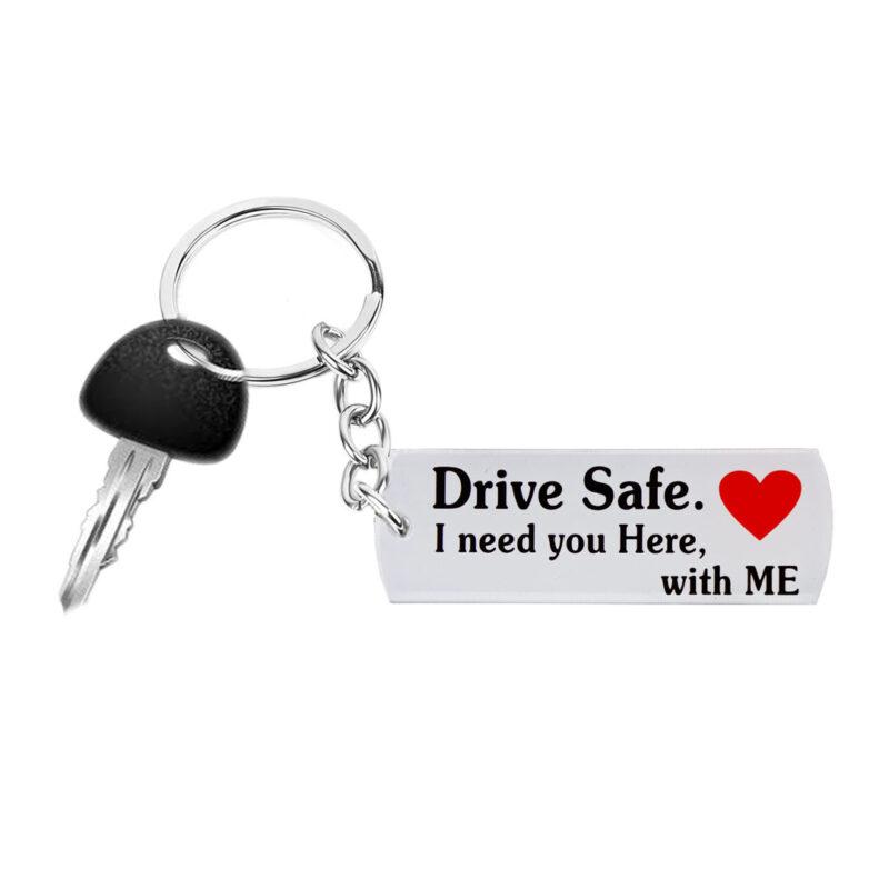 acrylic keychain - drive safe image view 4