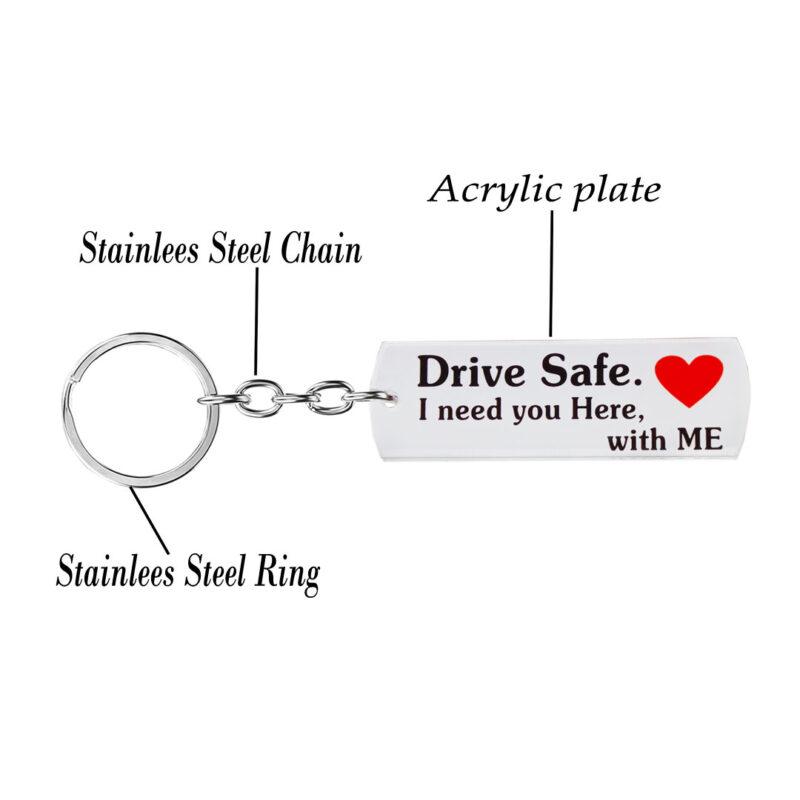 acrylic keychain - drive safe image view 3
