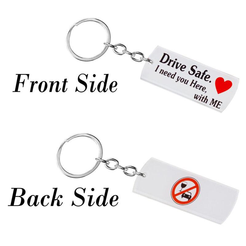 acrylic keychain - drive safe image view 2