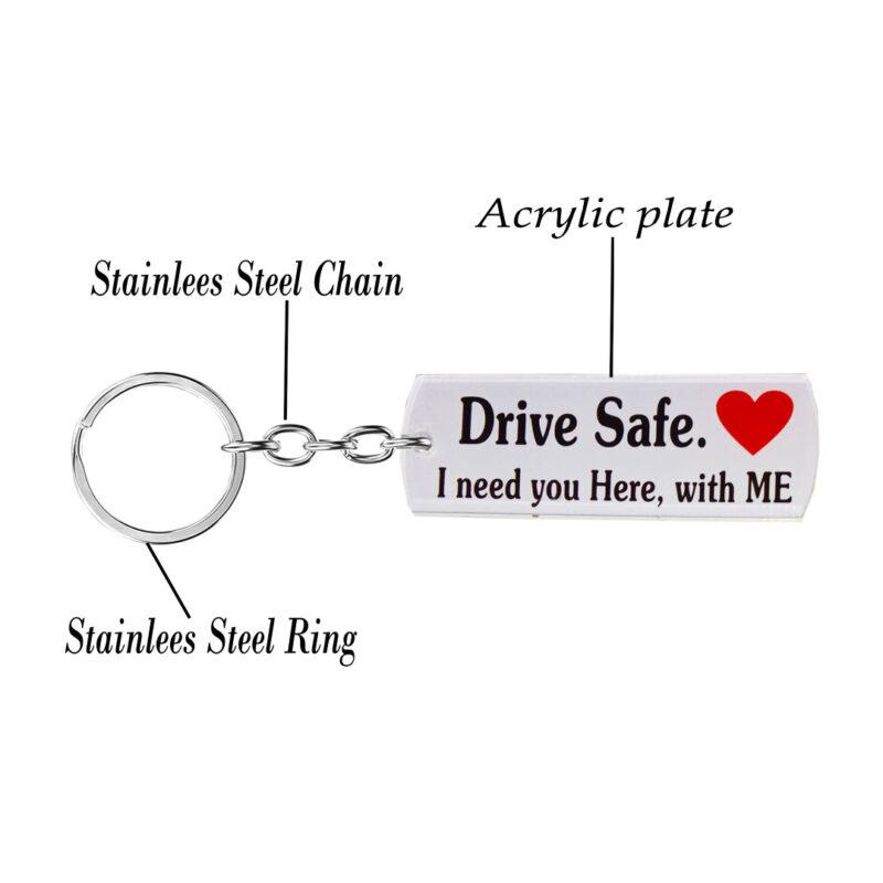 acrylic drive safe keychain image view 3