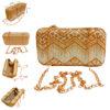 golden designer clutch box