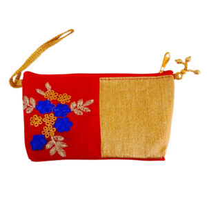 Red cosmetic pouch for girls image view 6